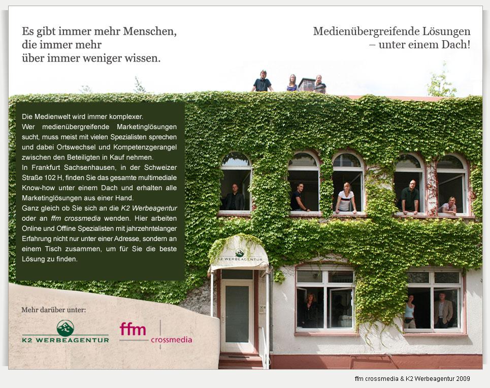 K2 Werbeagentur und ffm crossmedia, Frankfurt am Main
