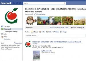 Jetzt auch auf Facebook, die Hessische Apfelwein- und Obstwiesenroute zwischen Main und Taunus