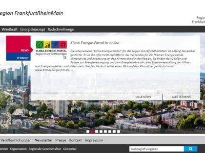 Internetauftritt Metropolregion FrankfurtRheinMain